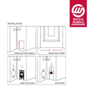 Automatic door bottom seal installation-01